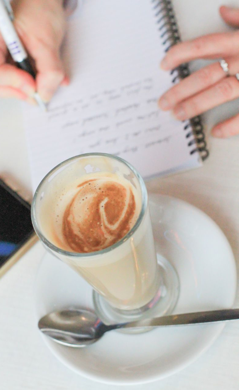 Freelance copywriter London caffe latte