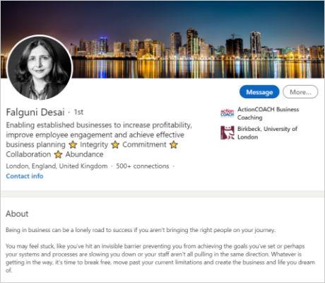 Portfolio LinkedIn Falguni Desai
