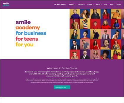 Customer Success SMILE Global website copywriter services