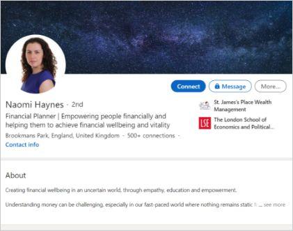 Portfolio LinkedIn Naomi Haynes