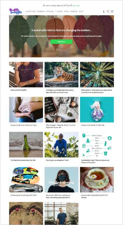 Customer Success Ruffle Snuffle website copywriter services